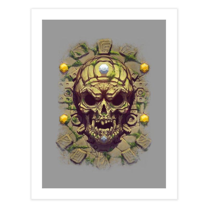 skull aztec Home Fine Art Print by fishark's Artist Shop