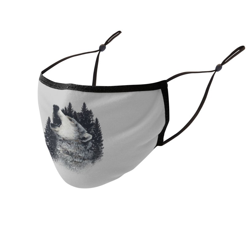 wolf Accessories Face Mask by fishark's Artist Shop