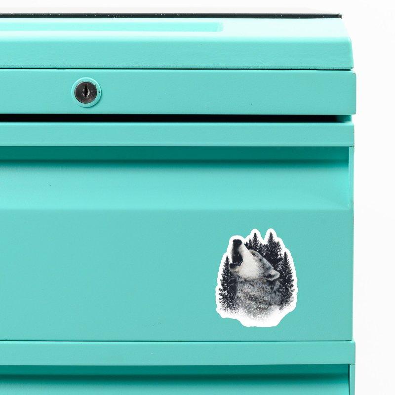 wolf Accessories Magnet by fishark's Artist Shop