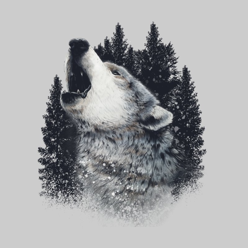 wolf Home Stretched Canvas by fishark's Artist Shop