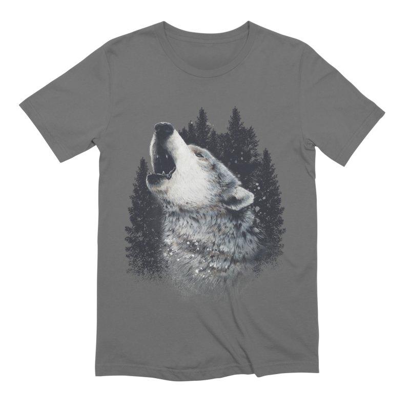 wolf Men's T-Shirt by fishark's Artist Shop