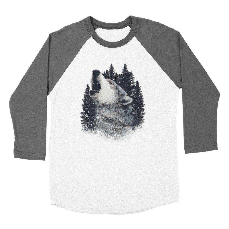 wolf Women's Longsleeve T-Shirt by fishark's Artist Shop