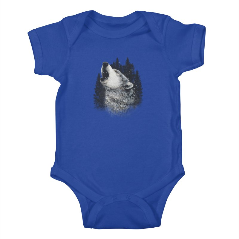 wolf Kids Baby Bodysuit by fishark's Artist Shop
