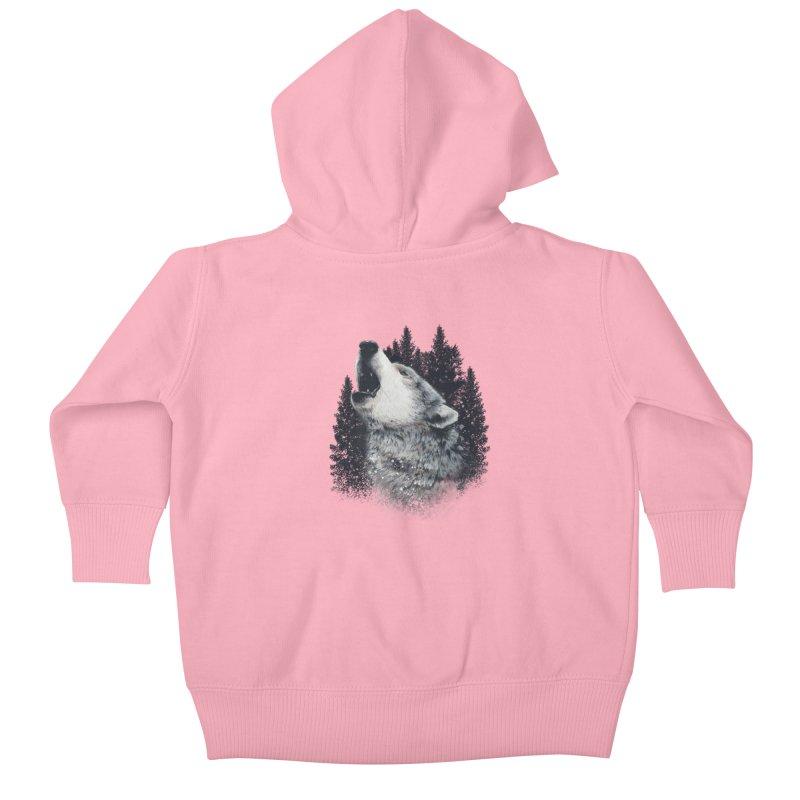 wolf Kids Baby Zip-Up Hoody by fishark's Artist Shop