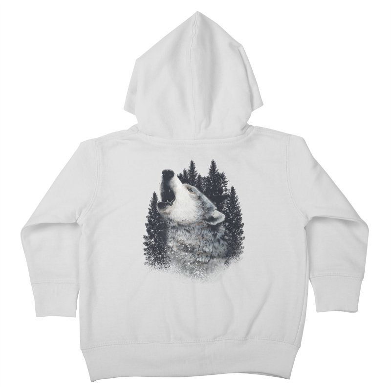 wolf Kids Toddler Zip-Up Hoody by fishark's Artist Shop