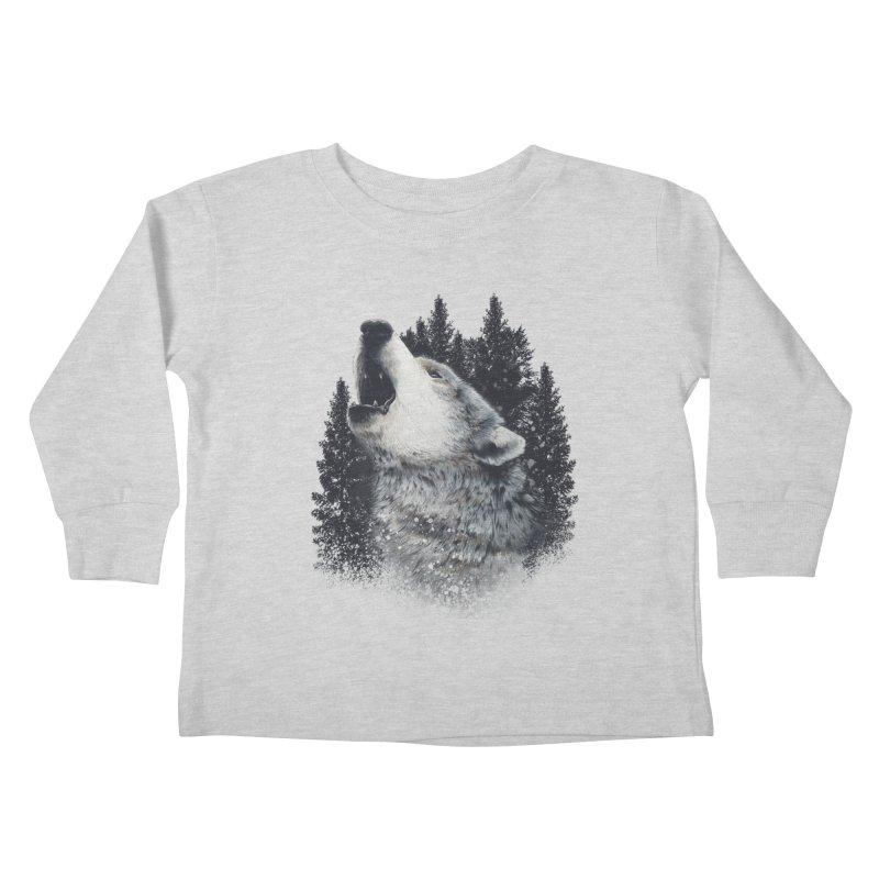 wolf Kids Toddler Longsleeve T-Shirt by fishark's Artist Shop