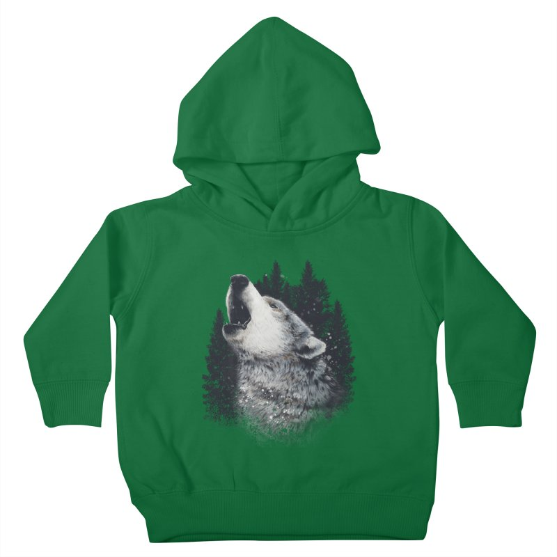 wolf Kids Toddler Pullover Hoody by fishark's Artist Shop