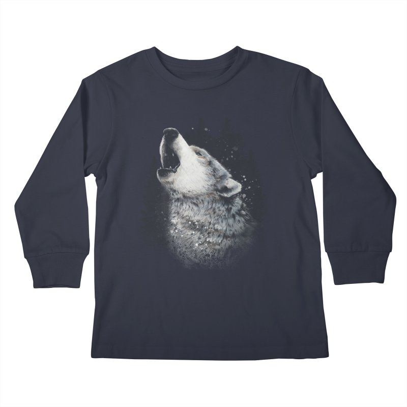 wolf Kids Longsleeve T-Shirt by fishark's Artist Shop