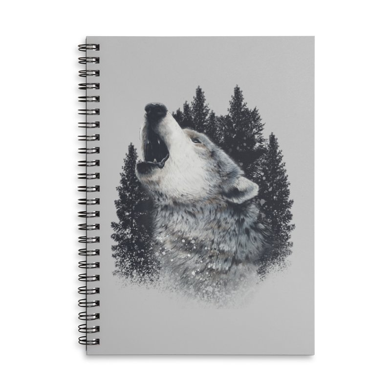 wolf Accessories Notebook by fishark's Artist Shop