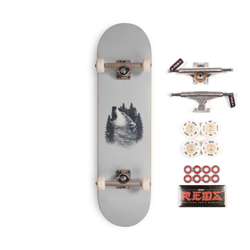 wolf Accessories Skateboard by fishark's Artist Shop