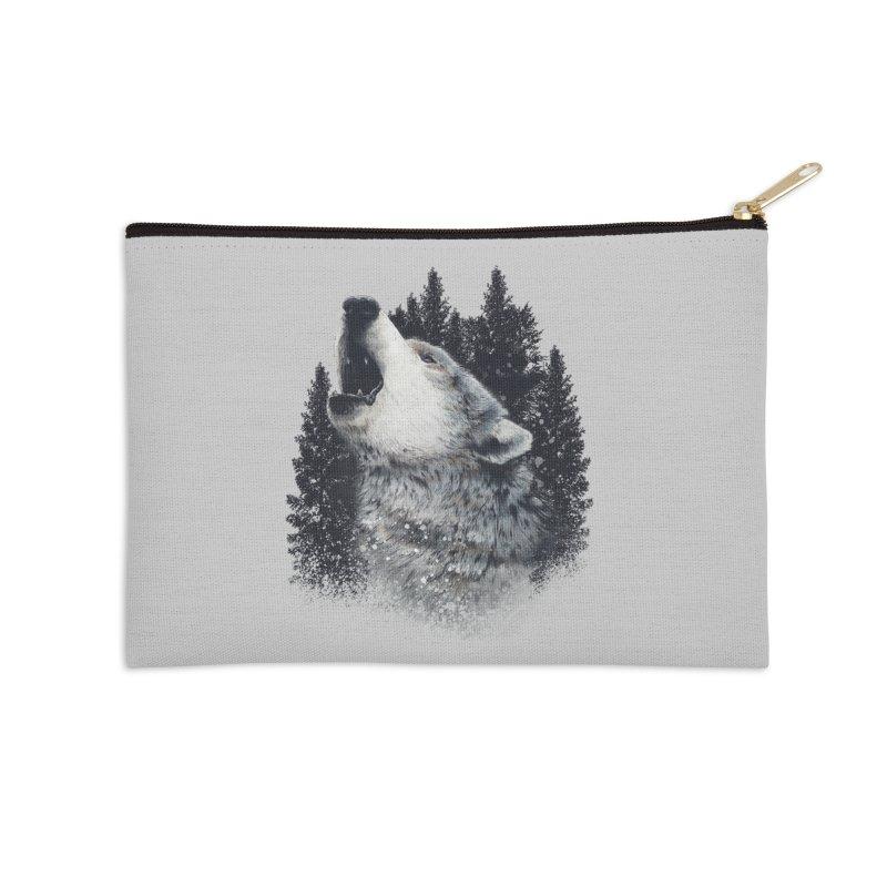 wolf Accessories Zip Pouch by fishark's Artist Shop