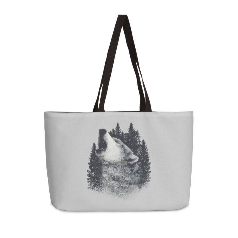 wolf Accessories Bag by fishark's Artist Shop