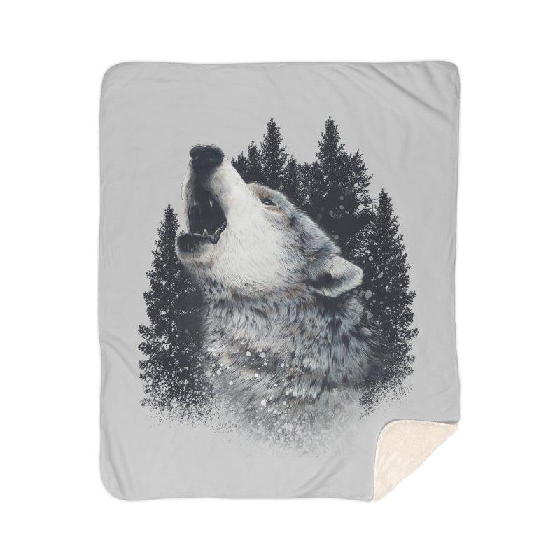 wolf Home Blanket by fishark's Artist Shop