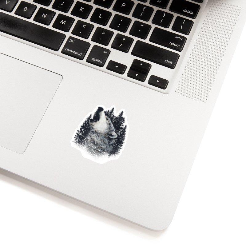 wolf Accessories Sticker by fishark's Artist Shop