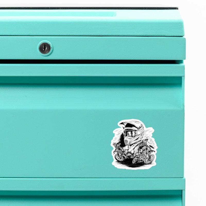 Enduro Accessories Magnet by fishark's Artist Shop