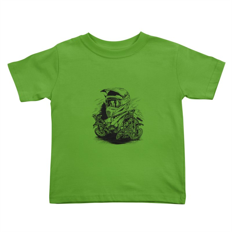 Enduro Kids Toddler T-Shirt by fishark's Artist Shop