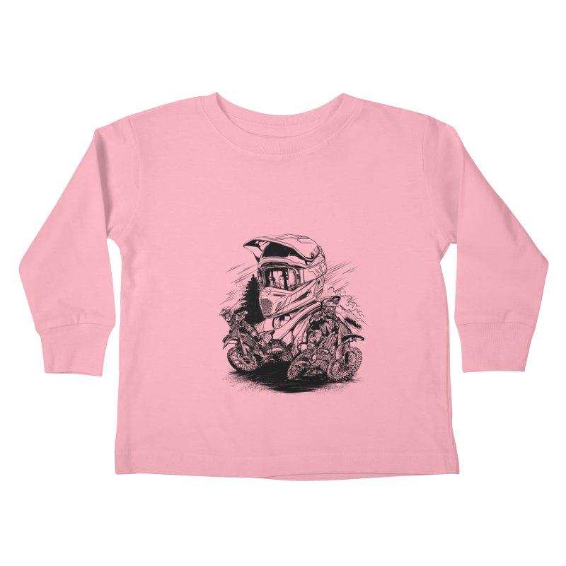 Enduro Kids Toddler Longsleeve T-Shirt by fishark's Artist Shop