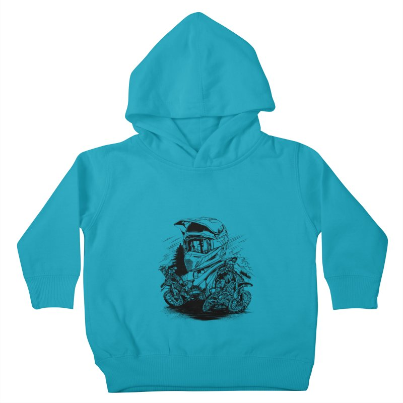 Enduro Kids Toddler Pullover Hoody by fishark's Artist Shop