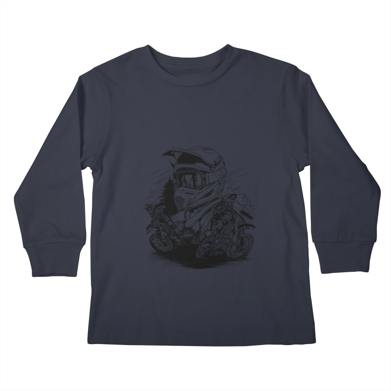 Enduro Kids Longsleeve T-Shirt by fishark's Artist Shop