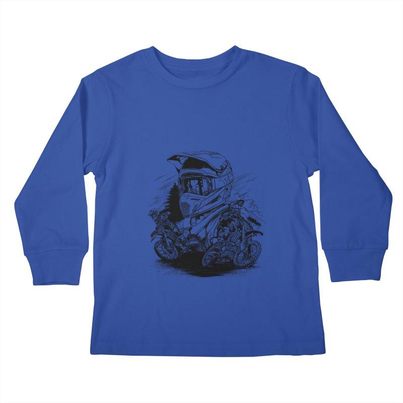 Enduro Kids Longsleeve T-Shirt by fishark's Artist Shop