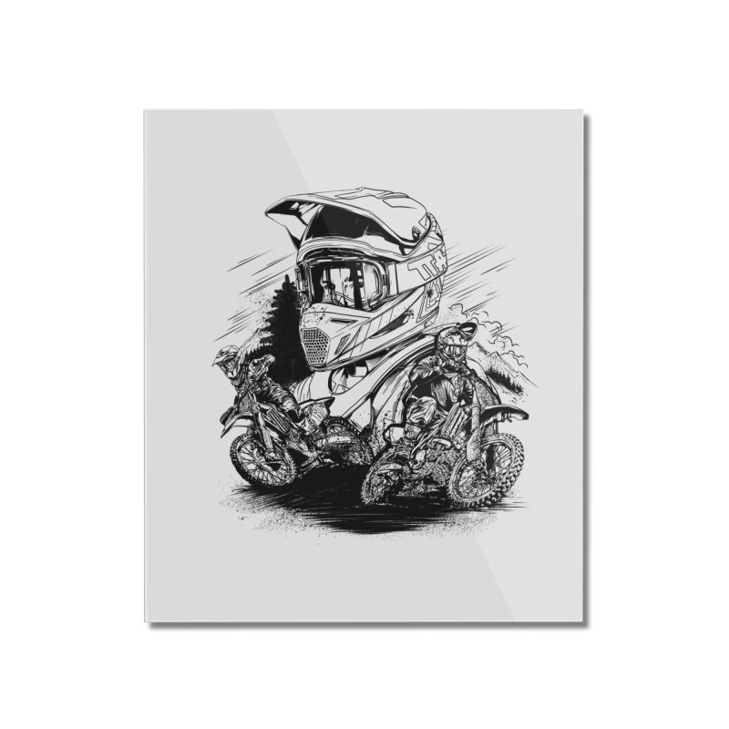 Enduro Home Mounted Acrylic Print by fishark's Artist Shop