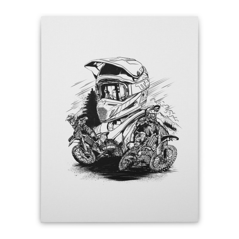 Enduro Home Stretched Canvas by fishark's Artist Shop