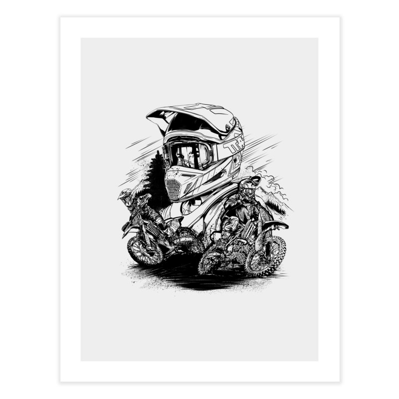 Enduro Home Fine Art Print by fishark's Artist Shop