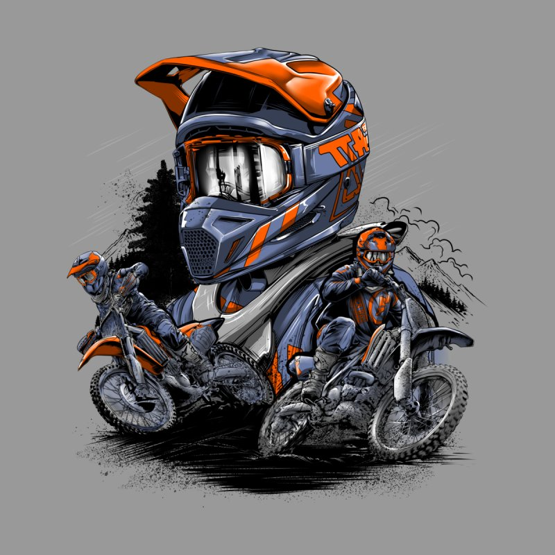 Enduro Men's T-Shirt by fishark's Artist Shop