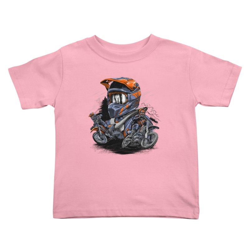 Enduro Kids Toddler T-Shirt by fishark's Artist Shop