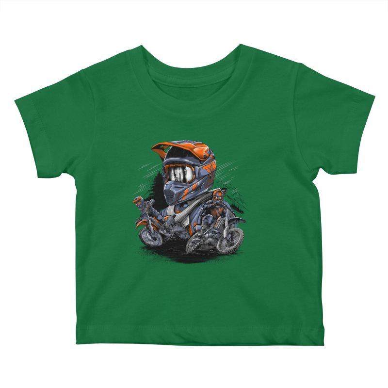 Enduro Kids Baby T-Shirt by fishark's Artist Shop
