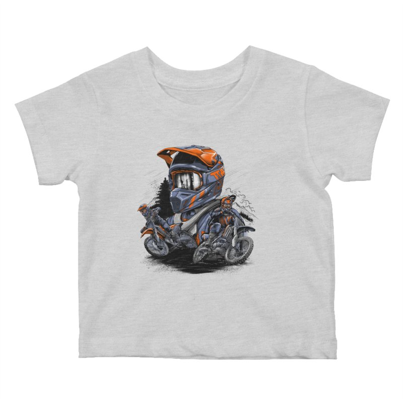 Enduro Kids Baby T-Shirt by fishark's Artist Shop
