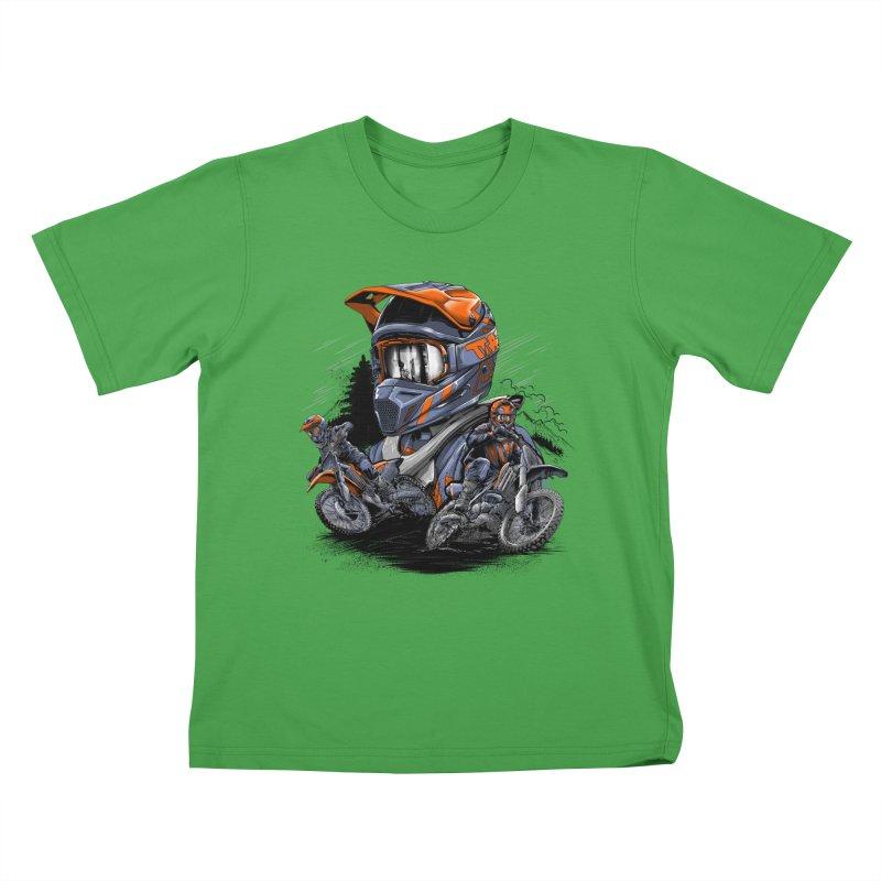 Enduro Kids T-Shirt by fishark's Artist Shop