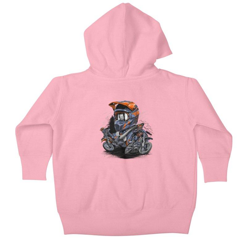 Enduro Kids Baby Zip-Up Hoody by fishark's Artist Shop