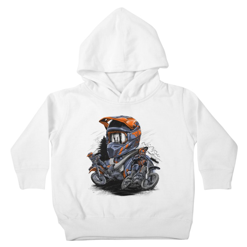 Enduro Kids Toddler Pullover Hoody by fishark's Artist Shop
