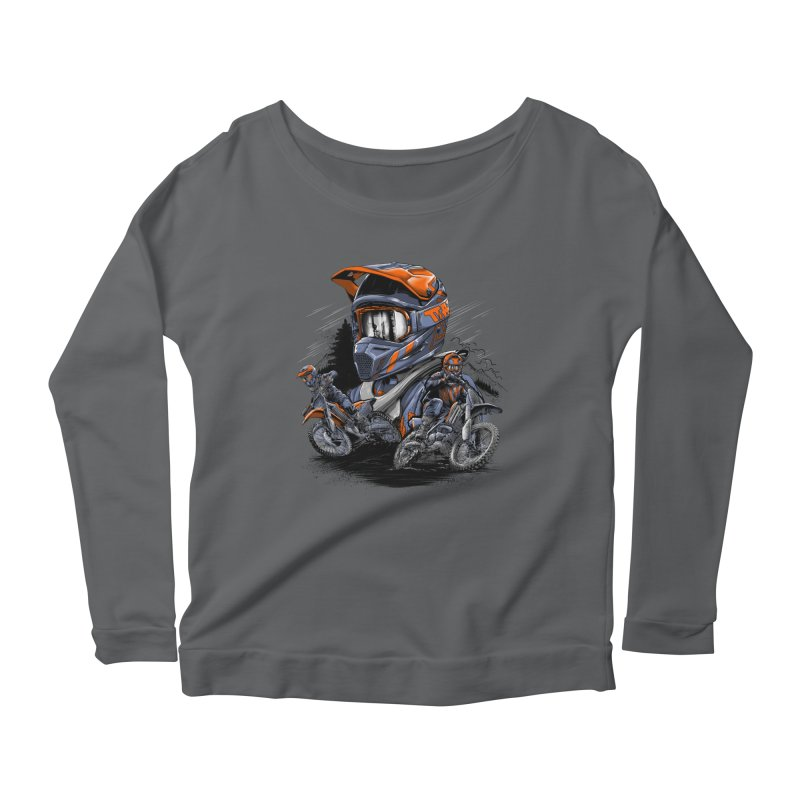 Enduro Women's Longsleeve T-Shirt by fishark's Artist Shop