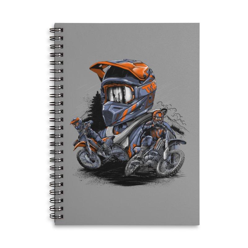 Enduro Accessories Notebook by fishark's Artist Shop