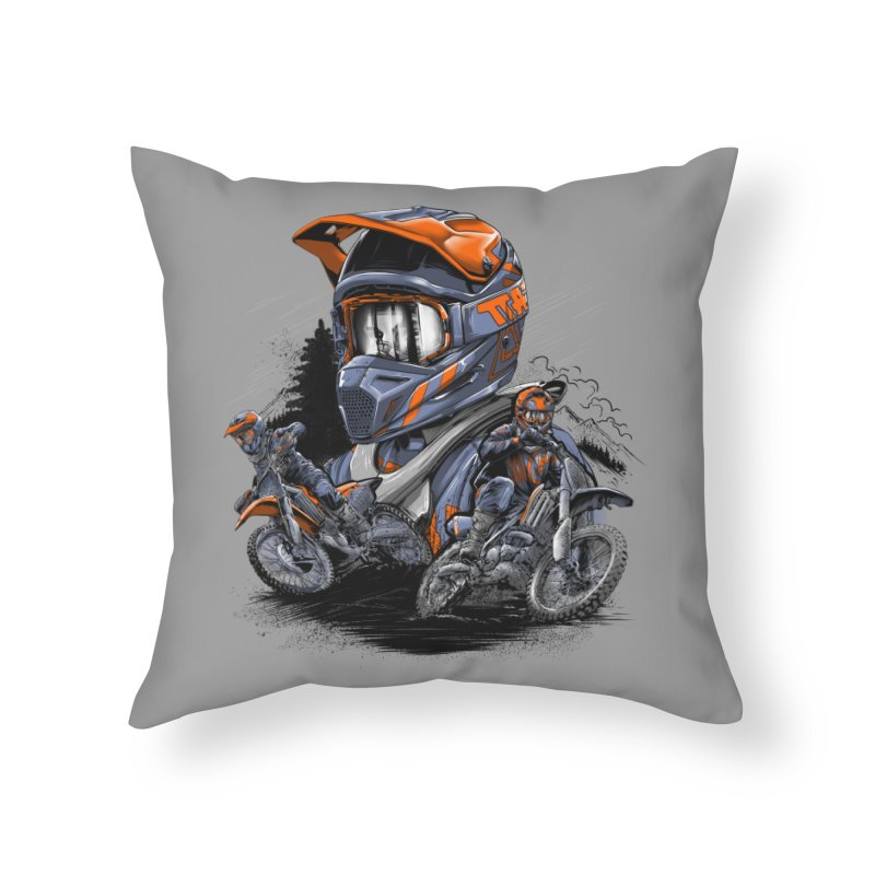 Enduro Home Throw Pillow by fishark's Artist Shop