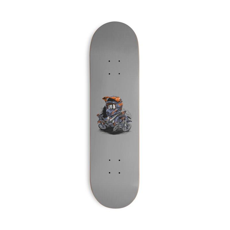 Enduro Accessories Skateboard by fishark's Artist Shop