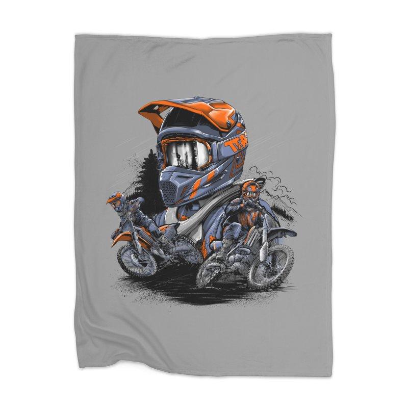 Enduro Home Blanket by fishark's Artist Shop