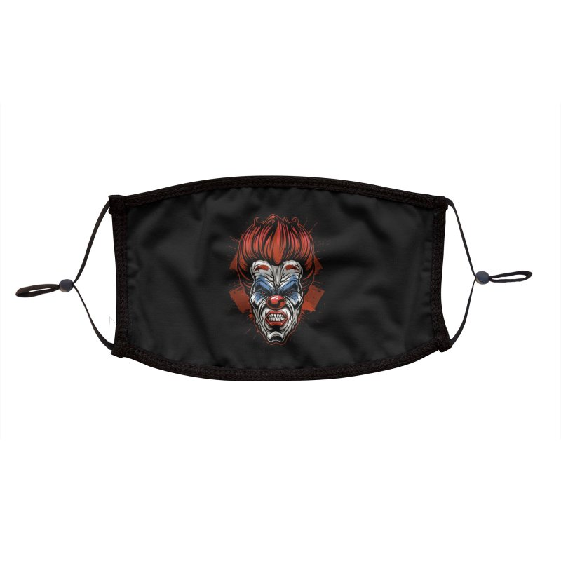 Evil clown Accessories Face Mask by fishark's Artist Shop
