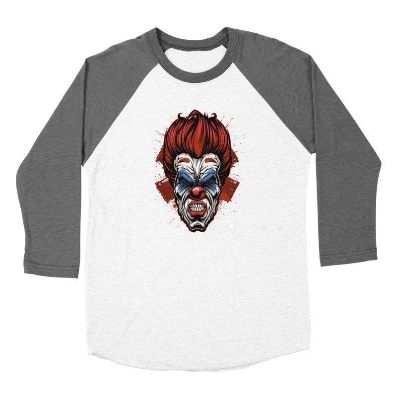 Evil clown Women's Longsleeve T-Shirt by fishark's Artist Shop