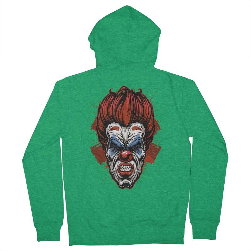 Evil clown Men's Zip-Up Hoody by fishark's Artist Shop