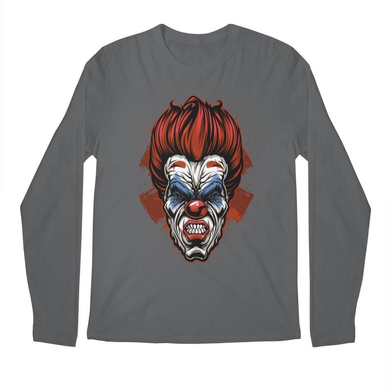 Evil clown Men's Longsleeve T-Shirt by fishark's Artist Shop