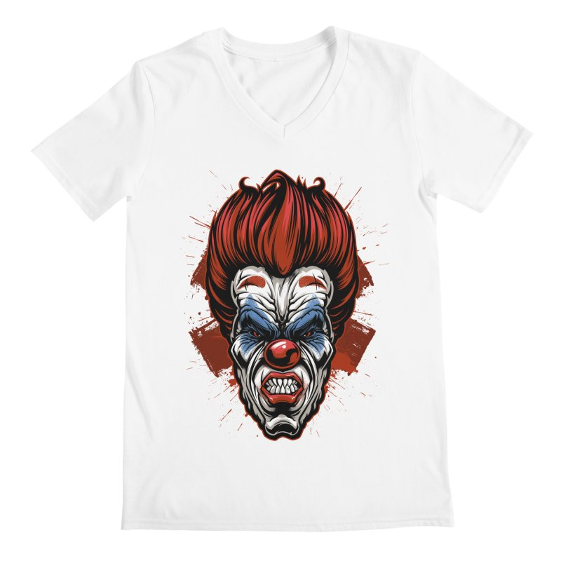 Evil clown Men's V-Neck by fishark's Artist Shop