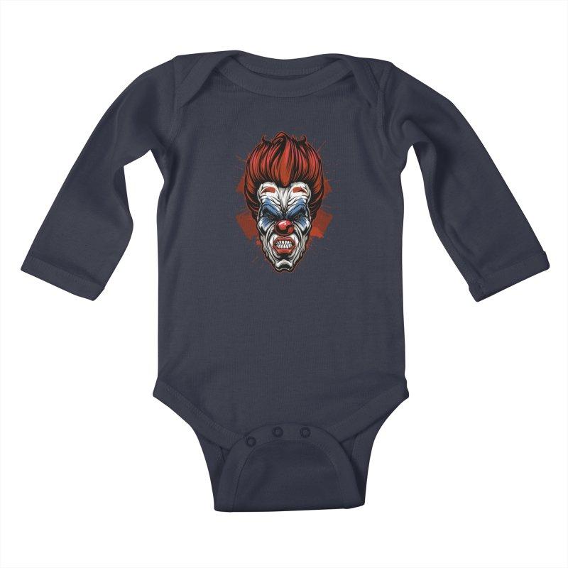 Evil clown Kids Baby Longsleeve Bodysuit by fishark's Artist Shop