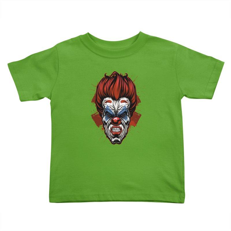 Evil clown Kids Toddler T-Shirt by fishark's Artist Shop