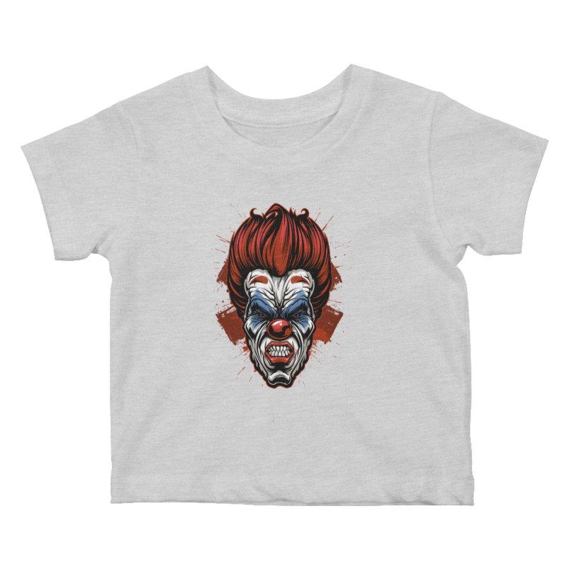Evil clown Kids Baby T-Shirt by fishark's Artist Shop