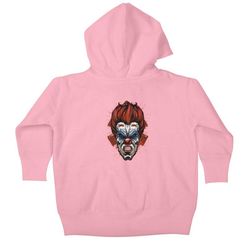 Evil clown Kids Baby Zip-Up Hoody by fishark's Artist Shop