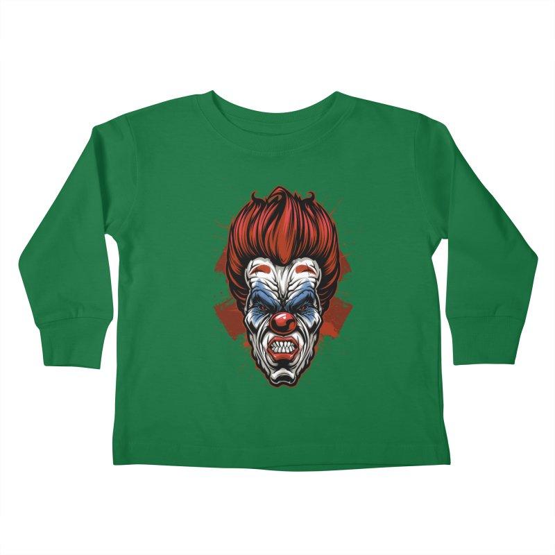 Evil clown Kids Toddler Longsleeve T-Shirt by fishark's Artist Shop