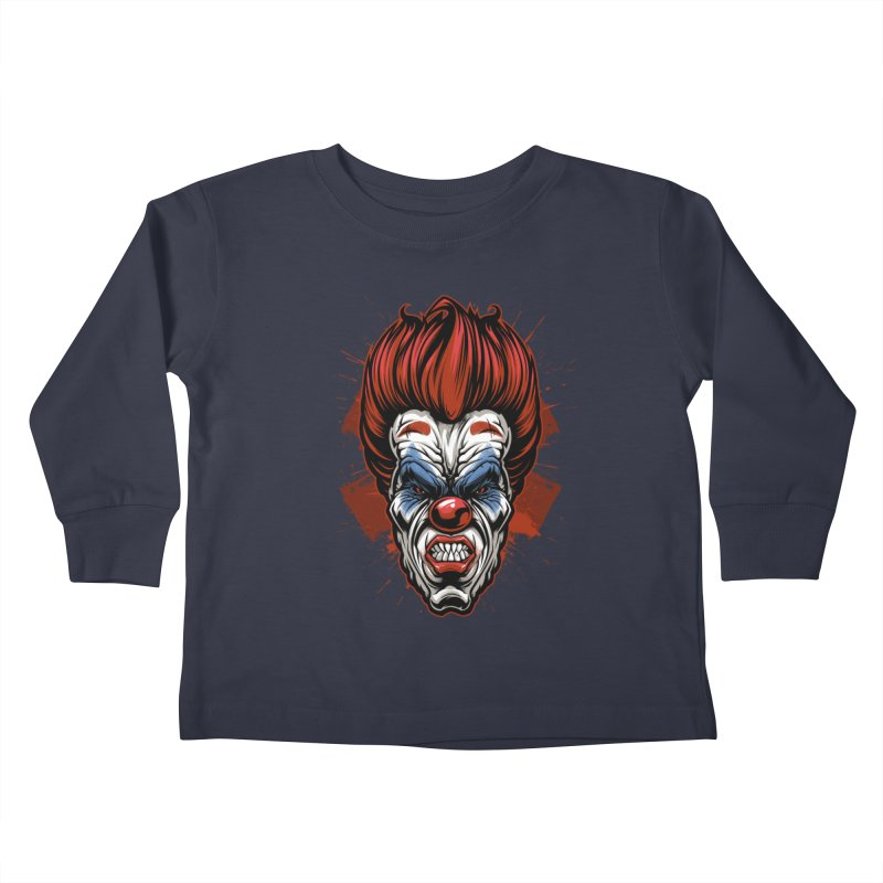 Evil clown Kids Toddler Longsleeve T-Shirt by fishark's Artist Shop